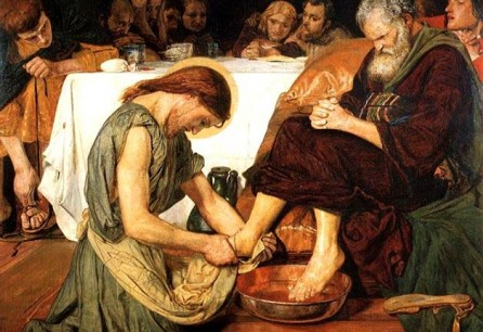 Jesus Washing Peter's Feet by Ford Madox Brown, 1852-56