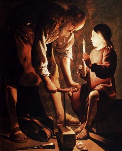 St. Joseph the Carpenter, by Georges de La Tour, 1640s.