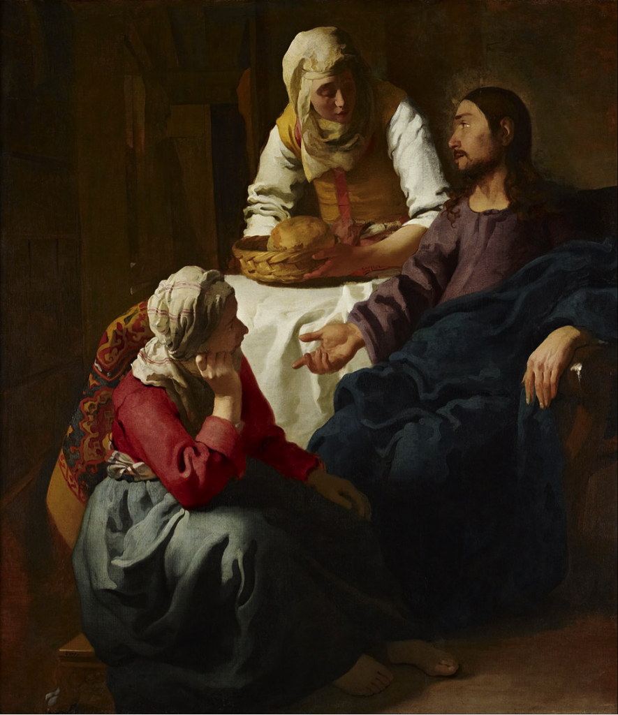 Photo credit: Christ in the House of Martha and Mary by Johannes (Jan) Vermeer